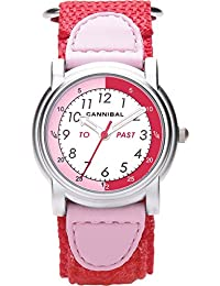 Cannibal Unisex Quartz Watch with White Dial Analogue Display and Red Nylon Strap CT203-06