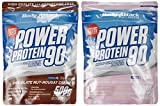 Body Attack Power Protein 90 Beutel 2er Mix Pack (2 x 500 g) Chocolate Nut- Nougat/Strawberry White, 1er Pack (1 x 1 kg)