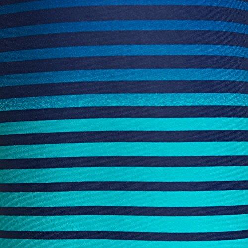 Zoggs Herren Badeshorts Cairns Mid Black/Green Stripe