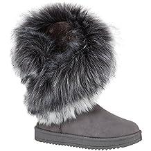 Stiefelparadies Damen Stiefeletten Winter Boots Warm Gefüttert Flandell e4e23fd79d