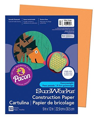 Pacon Sunworks Bau Papier gelb-orange 50Blatt-Art Papier (50Blatt)