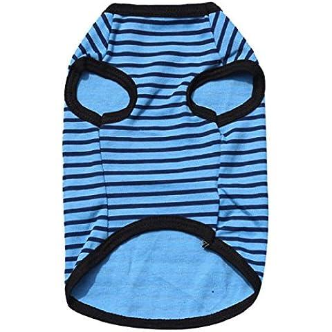Tongshi Camisa nueva primavera Armada Poliéster Chaleco Ropa para mascotas (azul1, L)