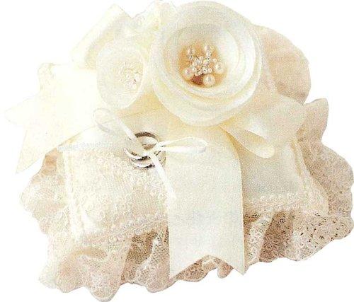 Kit di nozze Hamanaka cuscino Juno (Juneau) camelia anello H4.3.1.-1.3.5.