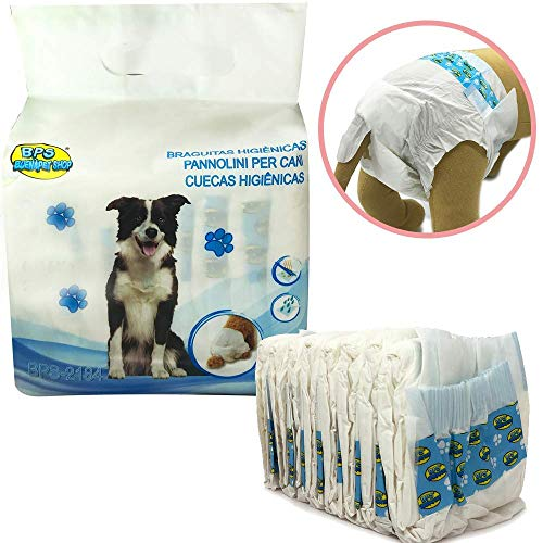 BPS 8 Pcs Braguita Higiénica Pañal Sanitarios para Perro Mascotas Fisiológicas Bragas...
