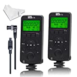 Pixel Wireless Shutter Release Timer Transceiver Remote Control LCD Screen 2.4GHZ for Nikon D800S D700 D300S D2S D1S D200 D4 D3S D7100 D7000 D5000 D3200 D3100 D750 (Upgrade Version of TW283)