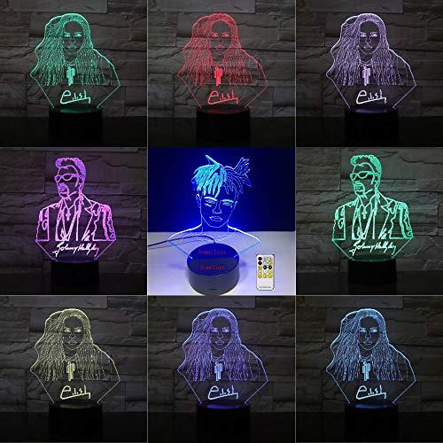 -915 Farben des Fußballfußballteamlogos 3D LED ändern Fernnotensteuerungs-USB-Geschenk Epacket