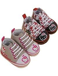 Hello Kitty - Chaussures Bébé Lot de 2 Hello Kitty Couleur - Noir/Beige, Taille - 6/12M