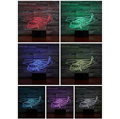 Spezial- & Stimmungsbeleuchtung Schreibtischlampen Für Kinder Hubschrauber Flugzeug Modell Illusion Fighter Dekorative Lichter Kampfflugzeug Hubschrauber