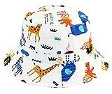Happy cherry - Bebés Sombrero con ala Gorro de Pescador Algodón Suave Transpirable Estampado Bucket Gorra de Sol para Playa Verano - Animal - 3-6 Meses