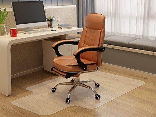 Bodenschutzmatte, Imarku 90 cm X 120 cm mit TÜV und abgerundeten Ecken Bürostuhlunterlage für Hartböden, Laminat, Parkett und Fliesen