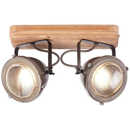 Barra de foco, 2 focos, 2 bombillas GU10 máx. 5 W, metal...