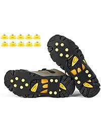 VICWARM Ice Klampen Traktion Rutschfeste über Schuhe/Stiefel 10 Stollen Schnee Ice Grips Steigeisen Stollen Spikes