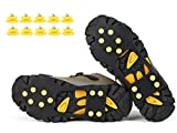 VICWARM Glace Traction Crampons Antidérapant sur Chaussures/bottes 10 clous à neige Grips Crampons Crampons Pointes