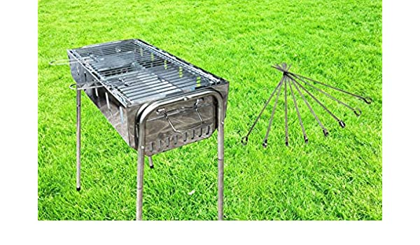 44 cm Holzkohlegrill Grill Gartengrill Standgrill Kohlegrill CampingGrill Mangal