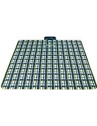 Picknickdecke 200 x 200 cm wasserdichte Camping decke mit Träger Reisedecke Stranddecke Matte Decke für Camping und Picknicks Fleece-Picknick-Decke