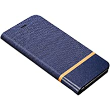 Bllosem Meizu M3 Note Funda Business Style Slim Fit PU Cover with Kickstand Function and Card Holder Full Protection Funda for Meizu M3 Note Blue
