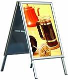 DISPLAY SALES Kundenstopper Indoor, DIN A1, Plakatständer mit 32 mm Profil, Gehrungsecken
