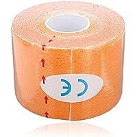 Sonline 1 Musculos Rollo Deportes Kinesiologia Cuidado de fitness atletico Salud 5M cinta * 5CM - Naranja