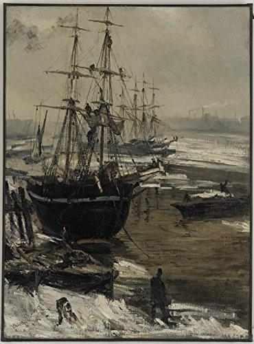 Das Museum Outlet–Whistler–Die Themse in Eis–Poster Print Online kaufen (61x 81,3cm) (Eis-skulpturen-buchstaben)