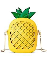 Mädchen klein Obst Umhängetaschen 3D Kleingeld Tasche mini Clutch Handtasche Abendtasche mit Zusatzkette
