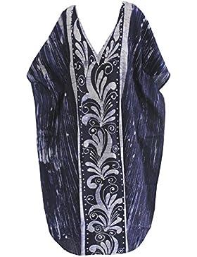 La Leela 100% beachwear informale costumi da bagno caftano lungo beachwear maxi vestito delle donne del cotone