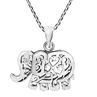 Ornament Artsy Elephant .925 Sterling Silver Necklace