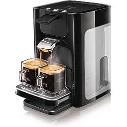 Philips HD7863/60 Machine à café à dosettes Senseo Quadrante, pour 1 ou 2 tasses, grand réservoir à eau, 1450 W (Noir)