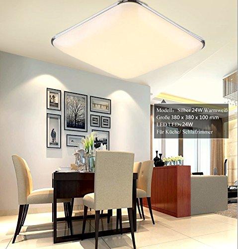 SAILUN 24W Kaltweiss Warmweiss Ultraslim LED Deckenleuchte Modern Deckenlampe Flur Wohnzimmer Lampe Schlafzimmer Kche Energie Sparen Licht