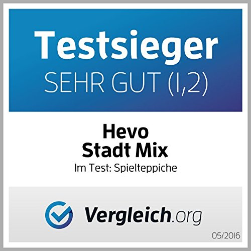 Stadt Mix HEVO® Strassen Spielteppich | Kinderteppich 145x200 cm - 2