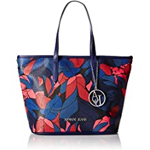 Armani Jeans 9220296A714 - Shopper de Material Sintético Mujer 23x17x26 cm (B x H x T)