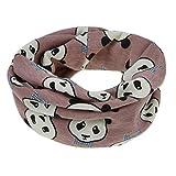 Kinder Loopschal Loop Schlauchschal Tuch mit Panda Muster Baumwolle Rundschal Halstücher Winter Schal für 0-12 Monaten Baby Mädchen Jungen