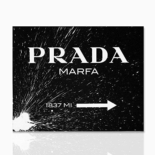 Cadre pour le noir show Prada Marfa avec la peinture de croquis blanc - peintures murales Gossip Girl Prada 1837 MI. Design - Colorscrazy, Divers