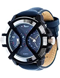 Forest Analogue Double Time Blue Dial Men's Watch