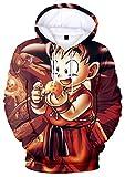 YIMIAO Unisexe Dragon Ball Sweat-Shirt à Capuche Super Pull 3D Manches Longues Sweat Goku(2XS)