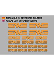 PEGATINAS ENVE F184 VINILO ADESIVI DECAL AUFKLEBER КЛЕЙ MTB STICKERS BIKE (NARANJA)