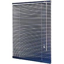 Persiana (aluminio azul/–Estor persiana Estor schalusie Puerta de persiana con muchos tamaños 60/80/100/120/140x 160cm (ancho x altura), azul, 60x160 (B x H in cm)