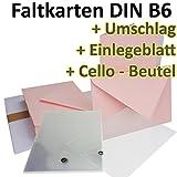50 Stück // DIN B6 Faltkarten + Umschläge + Einlegeblätter + Cellobeutel // ROSA // Größe: 23 x 17 cm (gefaltet 11,5 x 17 cm) // 240 g/qm // Aus der Serie FarbenFroh von NEUSER!