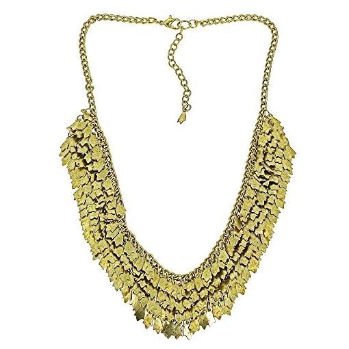 negozio online b91cc b6658 Collana in ottone di cluster d'oro per bigiotteria di moda ...
