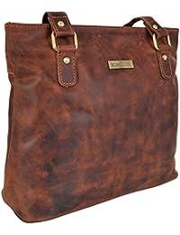 6e4e1cf9ff6e Rowallan Ladies Top Zip Oil Tan Leather Shoulder Handbag Bag 319632
