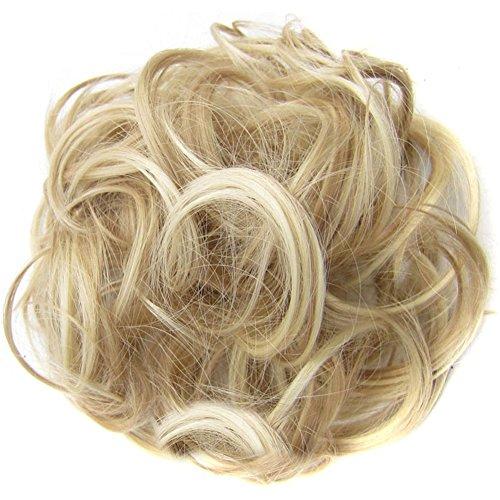 Bismarckbeer Toupet da donna, capelli ondulati, extension con elastico per capelli a coda di cavallo, accessori per acconciature