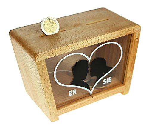 MAGISCHE GESCHENKBOX Spardose zur Hochzeit für Sie & Ihn - Spardose für Eheleute - Geldgeschenke zur Hochzeit für Das Brautpaar - Geldgeschenk Box (Magische Mit Münzen Tricks)
