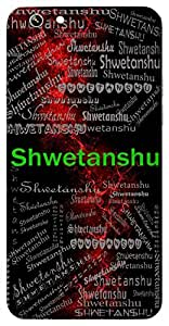Shwetanshu (Moon) Name & Sign Printed All over customize & Personalized!! Protective back cover for your Smart Phone : Samsung Galaxy S6 Edge