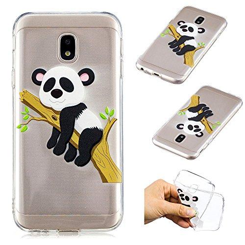 Ooboom® Samsung Galaxy J7 2017 Hülle TPU Silikon Gel Weich Handy Tasche Case Bumper Cover Stoßstange Flexibel Ultra Dünn Schlank für Samsung Galaxy J7 2017 - Baum Panda