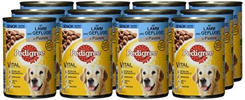 Pedigree Senior Hundefutter Lamm und Geflügel, 12 Dosen (12 x 400 g) - 2