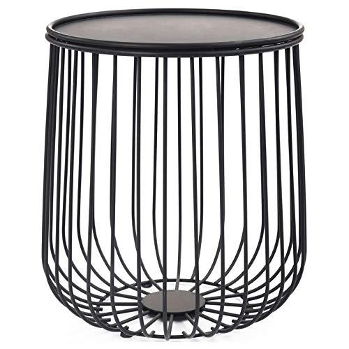 IDIMEX Couchtisch Daya modernes Design, Beistelltisch Wohnzimmertisch rund Couch Tisch modern in schwarz mit Stauraum