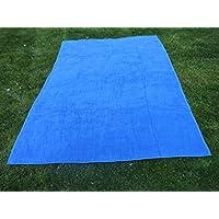 Toalla manta AZULÓN 150x200cm , 100%algodón, 460gr/m2, fabricada en CEE.