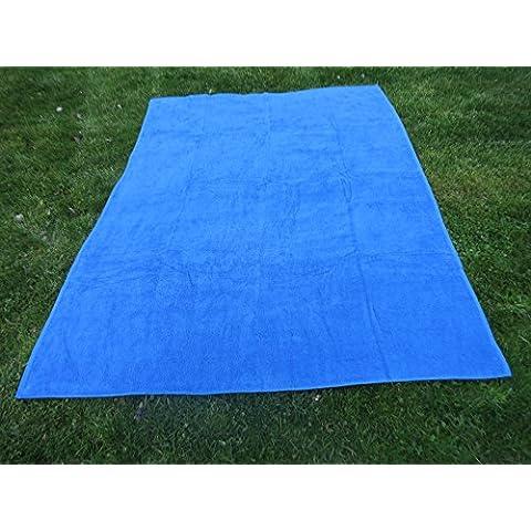 Toalla manta AZULÓN 150x200cm , 100%algodón, 460gr/m2, fabricada en Portugal.