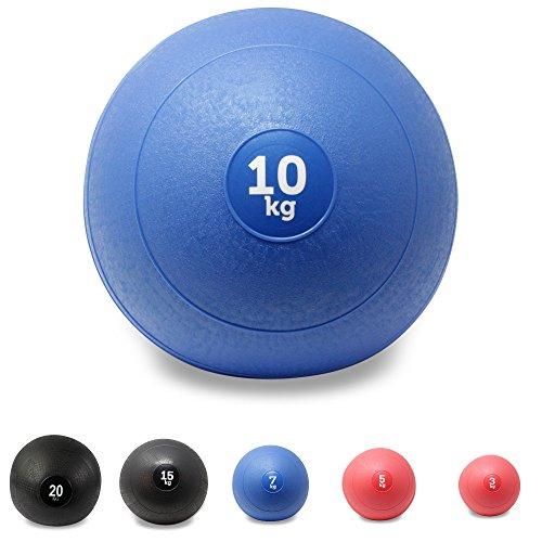 Slam Ball Balón Medicinal 3 - 20 kg - Ideal para ejercicios de entren