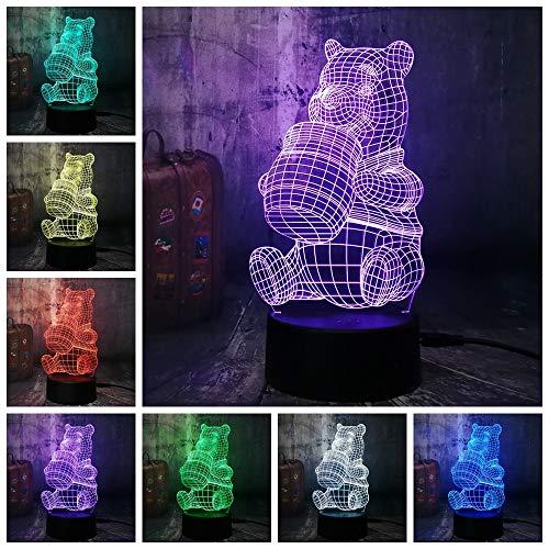 Nette Mickey Minnie Maus Winnie Tinker Bell Eeyore Donald Duck 3D LED Lampe Nachtlicht Dekor Kind Weihnachtsgeschenk Spielzeug G