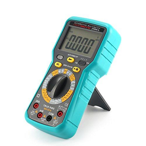 ToGames-ES 2900A Multímetro Automotriz Digital 6000 Cuenta Verdadero RMS AC/DC Volt Amperímetro Ohmio de Oportunidad de Velocidad Rotacional Tester de Temperatura